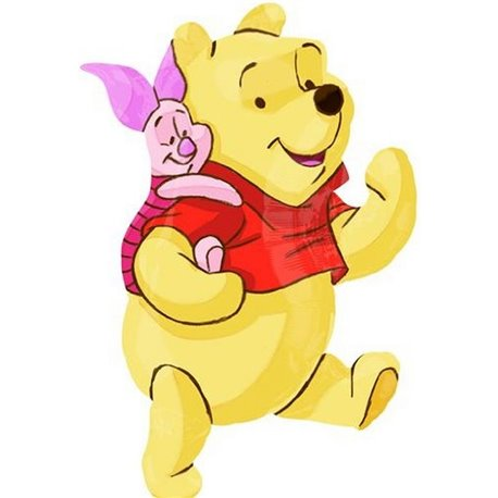 Winnie the Pooh and Piglet Mylar Shape Foil Balloon - 81 cm, Amscan 22924ST