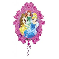 Princesses Frame Supershape Foil Balloon, Amscan, 66x78cm, 27149