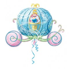 Disney Princess Carriage Shaped Jumbo Foil Balloon, 83x58 cm, 26463