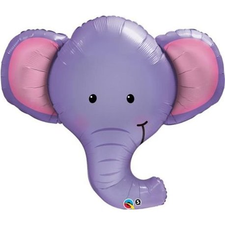 Elephant Head Foil Balloon, Qualatex, 17116