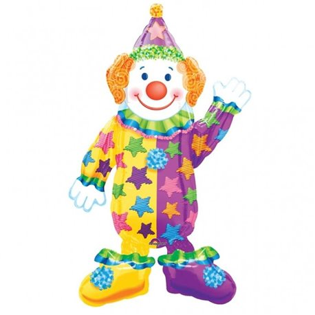 Circus - Juggles The Clown Air Walker Foil Balloon, 07662