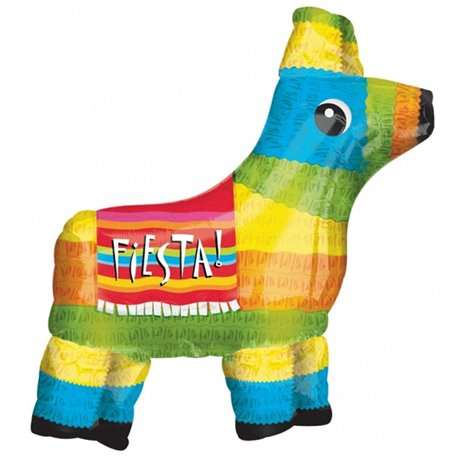 Mexican Fiesta Pinata Mexico Themed Large Supershape Foil Balloon, 71x69 cm, 17979