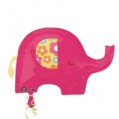 Pink Elephant SuperShape Foil Balloon, Amscan, 24580