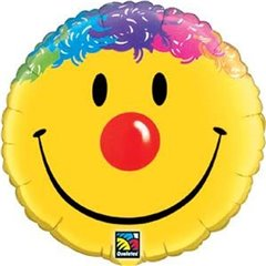 Balon Folie 45 cm Smiley Face, Qualatex 26046