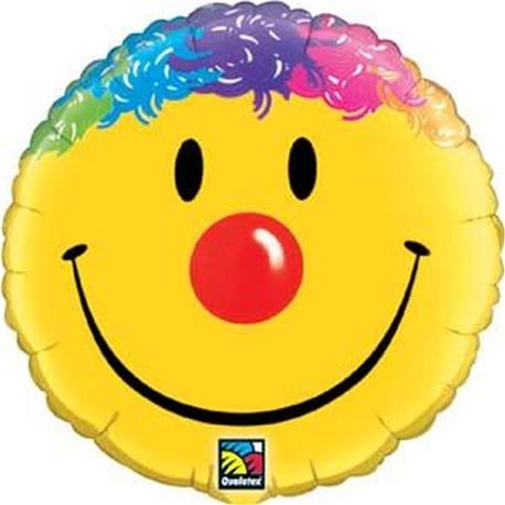 Balon Folie 45 cm Smile Face, Qualatex 26046