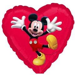 Balon folie inima Mickey - 45cm, Amscan 22945