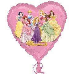 Balon folie inima Printese Disney - 45cm, Amscan 22947