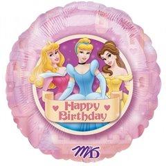 """18"""" Disney Princesses Birthday Round Foil Balloon, Amscan 12482"""