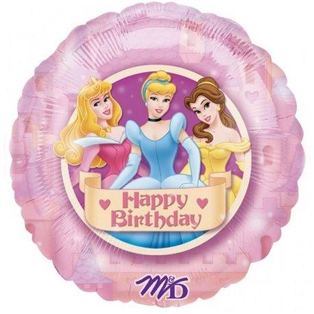 Balon folie 45 cm printese Disney Happy Birthday, Amscan 12482