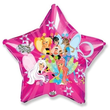 Secret Wings Star Large Shape Foil Balloons, 45 cm, 306501