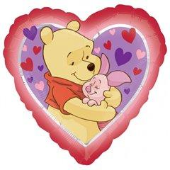 Balon folie inima Pooh Love Hug - 45cm, Amscan 23040