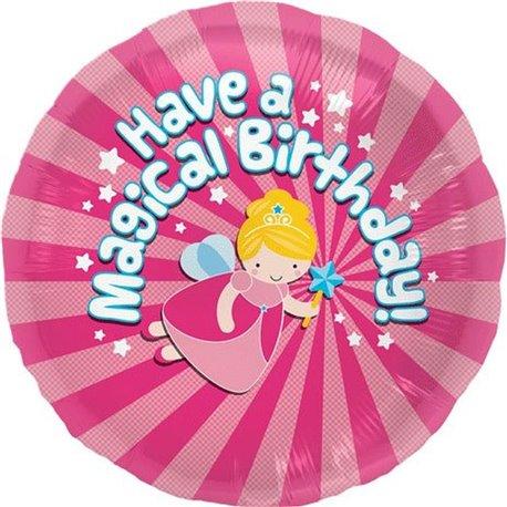 Have A Magical Birthday Flying Fairy Mylar Foil Balloon, 45 cm, 00799