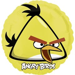 Angry Birds Yellow Standard Foil Balloons, 45 cm, 25772