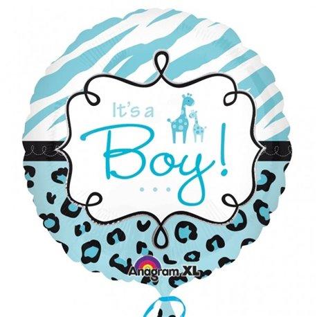 Balon Folie 45 cm It's a Boy Girafa, Amscan 24560