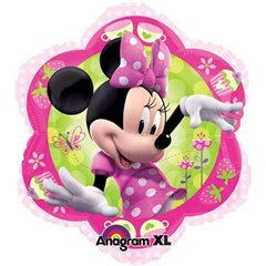 Minnie Mouse Pink Foil Balloon - Flower Junior Shape, Amscan, 45 cm, 26437