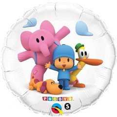 Pocoyo & Friends Suprafoil Balloon, Qualatex, 45 cm, 41145