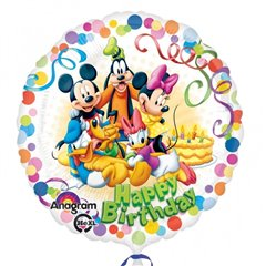 "Balon folie 45cm Mickey & Friends ""Happy Birthday"", Amscan 29007"