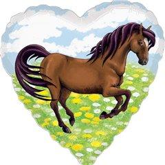 Balon folie  inima cal - 45cm, Amscan 29491