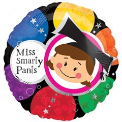 Balon folie 45cm Miss Smarty Pants, Amscan 15355