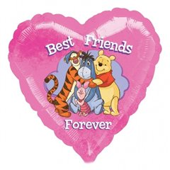 Balon folie inima Winnie the Pooh - 45cm, Amscan 24163