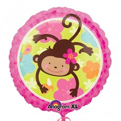 "Monkey Love Foil Balloon - 18""/45cm, Amscan 113901-01"