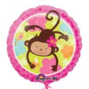 Balon Folie 45 cm Monkey Love, Amscan 113901-01