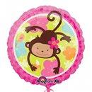 Balon Folie 45 cm Monkey Love, Amscan 113901-01