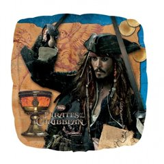 Pirates of the Caribbean Captain Jack Standard Foil Balloons, 45 cm, 22301