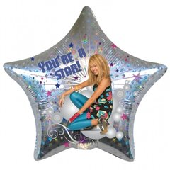 Balon Folie 45 cm Stea Hanna Montana - You're a star, Amscan 17841