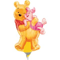 Balon mini figurina 23cm Big Pooh Hug, Amscan 08334