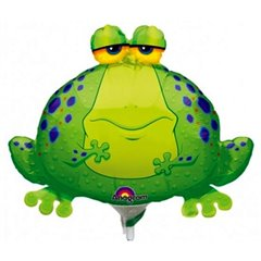 Balon mini figurina Big Bullfrog + bat si rozeta, Amscan 0593902