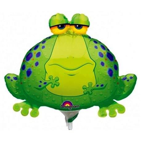 "Balon Folie Mini-Figurina Big Bullfrog - 9""/23 cm, Amscan 0593902, 1 buc"