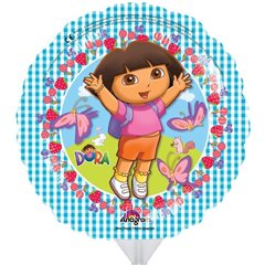 Balon mini folie Dora the Explorer - 23cm + bat si rozeta, Amscan 2545009