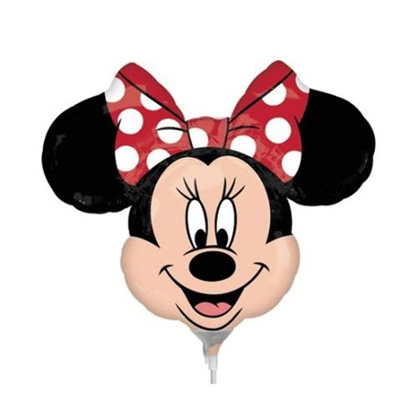 "Street Treats Minnie Mouse Shaped Foil Balloon With Red Bow, Amscan, 34"", 22956ST"