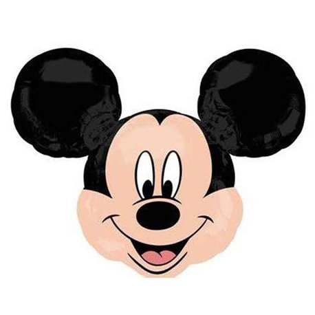 "Birthday Balloons Mickey Mouse Head Foil, Amscan, 14"", 22957"