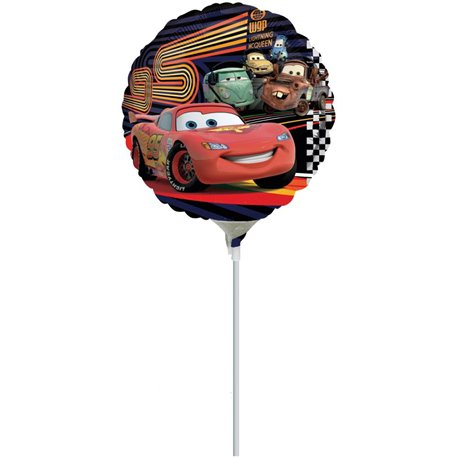"Cars Mcqueen And Group Foil Balloon, Amscan, 9"", 22305"