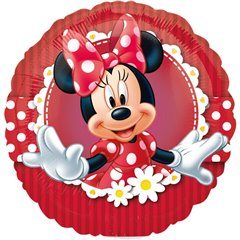 Balon mini folie Minnie Mouse - 23cm, umflat + bat si rozeta, Amscan 24820
