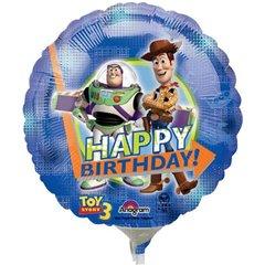 Balon mini folie Toy Story 23cm + bat si rozeta, Amscan 20979