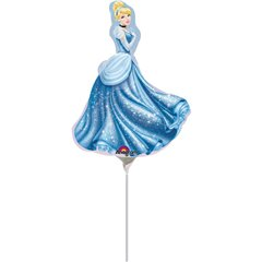 Balon mini figurina Cenusareasa - 23cm, umflat + bat si rozeta, Amscan 25022