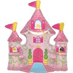 Balon mini figurina castel printese - 36cm, umflat + bat si rozeta, Northstar Balloons 00814