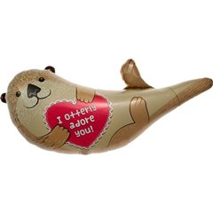 Balon mini figurina castor - 36cm, umflat + bat si rozeta, Northstar Balloons 00622