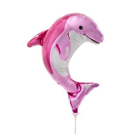 "Pink Mini Foil Balloon Delfin, Northstar Balloons, 14"", 00600"