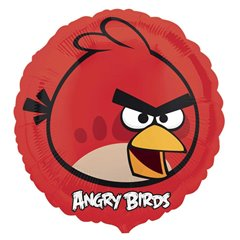 Balon mini folie Red Bird, Angry Birds - 23cm, umflat + bat si rozeta, Anagram 25771