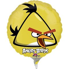 Balon mini folie Yellow Bird, Angry Birds - 23cm + bat si rozeta, Anagram 25773