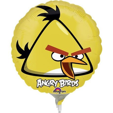 "Mini Foil Balloon Yellow Bird, Angry Birds, 9"", 25773"