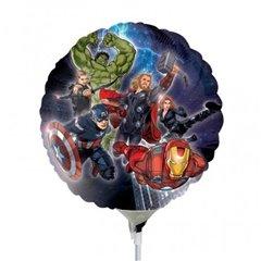 Balon mini folie Eroi Marvel Avengers - 23cm, umflat + bat si rozeta, Amscan 24845