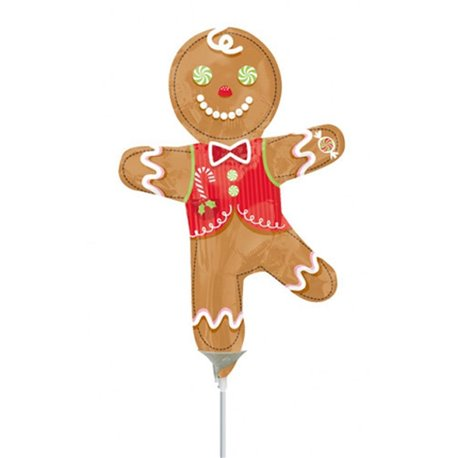 "Candy Gingerbread Man Mini Shape Balloons, 9"", 22916"