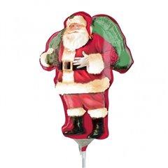 Balon Mini Folie Figurina Mos Craciun, 23 cm, 25160