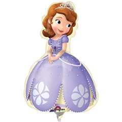 "Sofia The First Shaped Mini Foil Balloons on Sticks, Amscan, 9"", 27532"