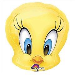 "Mini Tweety Bird Head Foil Party Balloon, Amscan, 9"", 22961ST"